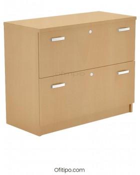 Armario archivador de madera bajo Emese  - 1