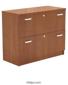 Armario archivador de madera bajo Emese ofitipo 9