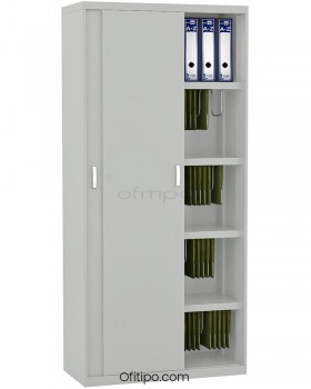 Armario metálico alto Arti con puertas correderas ofitipo 11