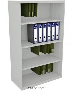 Armario estantería metálico mediano Arti sin puertas ofitipo 11