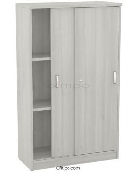 Armario de madera mediano Emese con puertas correderas ofitipo 13