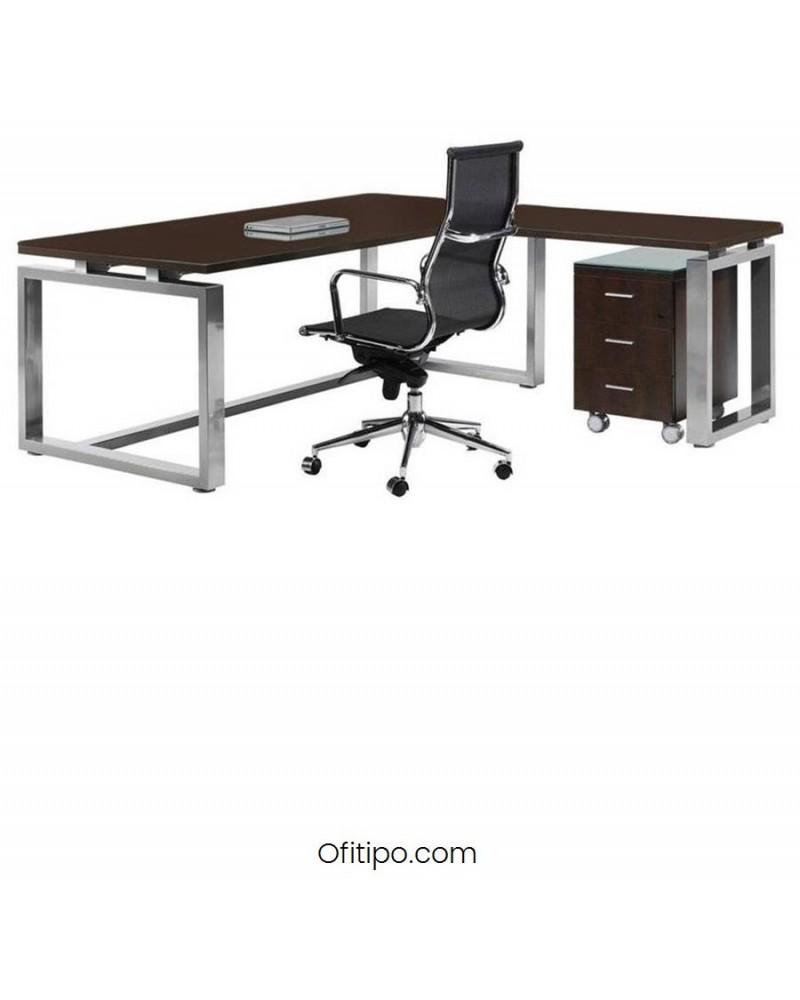 Mesa de despacho Vestara en L wengue ofitipo 1