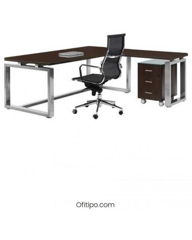 Mesa de despacho Vestara en L