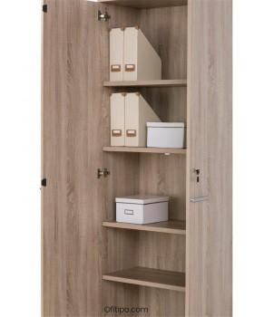 Armario de madera alto Borta con puertas ofitipo 4