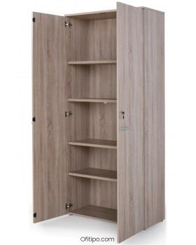 Armario de madera alto Borta con puertas ofitipo 5