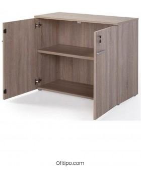 Armario de madera bajo Borta con puertas ofitipo 2