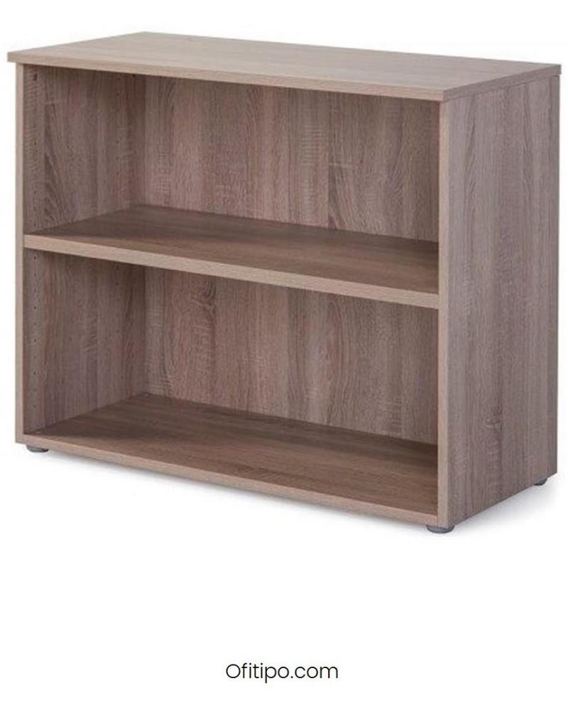 Armario estantería de madera bajo Borta sin puertas olmo ofitipo 2
