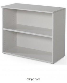 Armario estantería de madera bajo Borta sin puertas blanco ofitipo 2