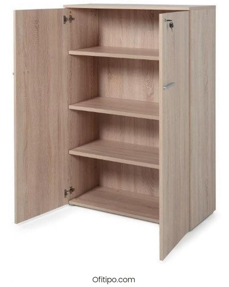 Armario de madera mediano Borta con puertas olmo ofitipo 1