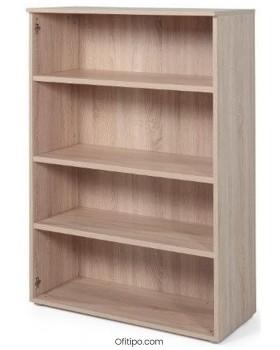 Armario estantería de madera mediano Borta sin puertas olmo ofitipo 1