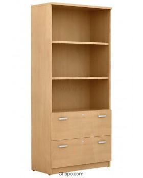Armario archivador de madera alto Emese ofitipo 10