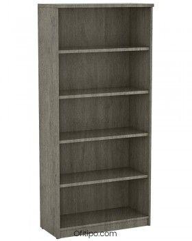 Armario estantería de madera alto Emese sin puertas ofitipo 8