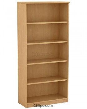 Armario estantería de madera alto Emese sin puertas ofitipo 10