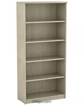 Armario estantería de madera alto Emese sin puertas ofitipo 7