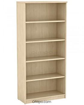 Armario estantería de madera alto Emese sin puertas ofitipo 11