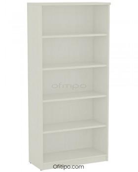 Armario estantería de madera alto Emese sin puertas ofitipo 13