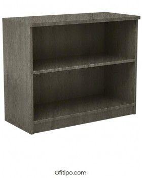 Armario estantería de madera bajo Emese sin puertas Ofitipo 6