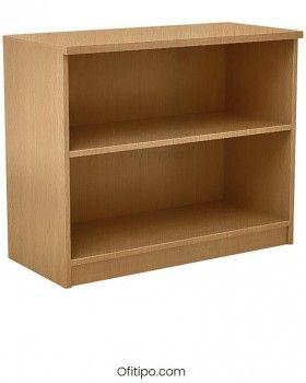 Armario estantería de madera bajo Emese sin puertas Ofitipo 8