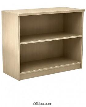 Armario estantería de madera bajo Emese sin puertas Ofitipo 12