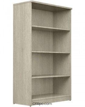 Armario estantería de madera mediano Emese sin puertas ofitipo 5