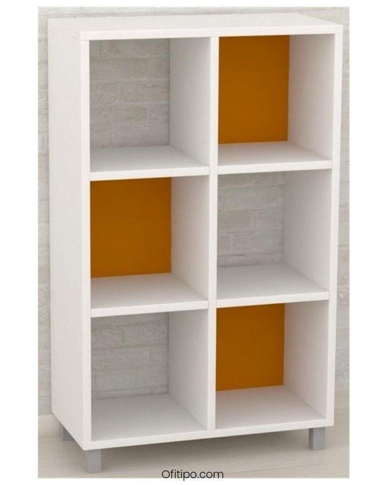 Armario estantería mediano Dasat 6 celdas vertical ofitipo 1