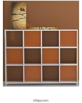 Armario estantería mediano Dasat 6 celdas vertical ofitipo 2