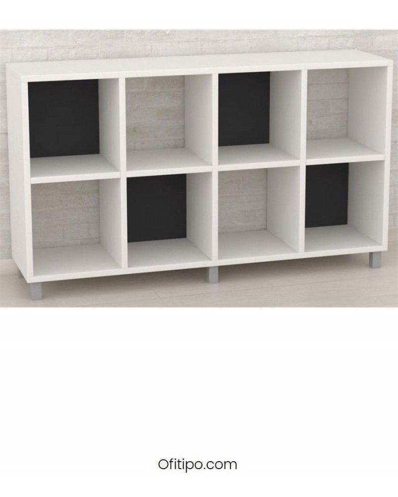 Armario estantería bajo Dasat 8 celdas horizontal ofitipo 1