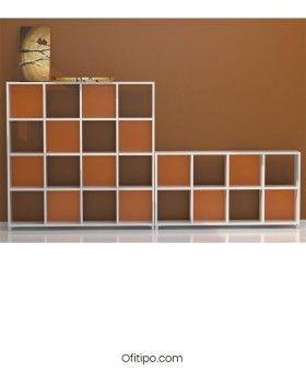 Armario estantería bajo Dasat 8 celdas horizontal ofitipo 2