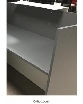 Mostrador de recepción Mester blanco, gris o antracita ofitipo 3