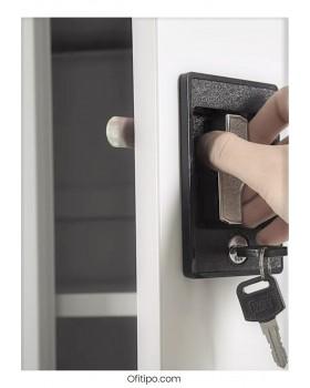 Armario metálico alto Laga Basic con puertas abatibles ofitipo 3