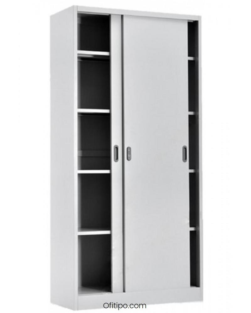 Armario metálico alto Laga Basic con puertas correderas ofitipo 1