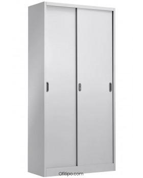 Armario metálico alto Laga Basic con puertas correderas ofitipo 2