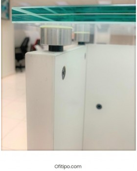 Mostrador de recepción cristal Emof ofitipo 5