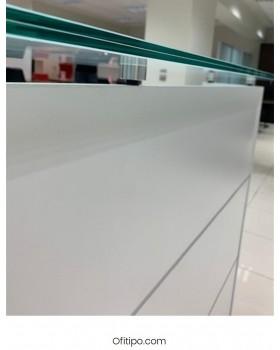 Mostrador de recepción cristal Emof ofitipo 4