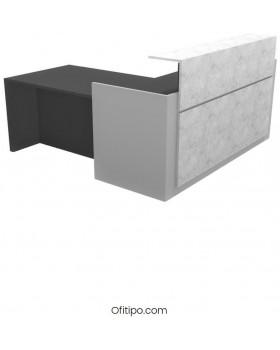 Mostrador de esquina Trento Brillo - Ofitipo 5