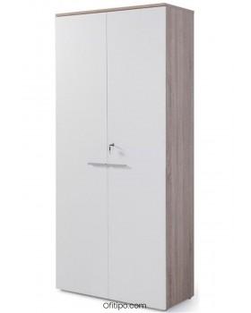 Armario de madera alto Borta con puertas ofitipo 10