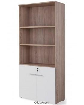 Armario de madera alto Borta con puertas bajas ofitipo 9