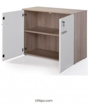 Armario de madera bajo Borta con puertas ofitipo 6