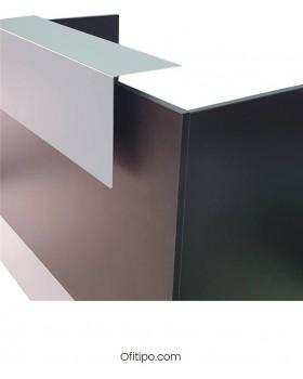 Mostrador de recepción Mester blanco, gris o antracita ofitipo 6