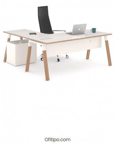 Mesa de despacho Pasam en L