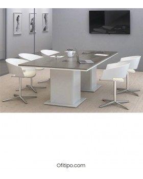 Mesa de reunión Eslem rectangular ofitipo 1