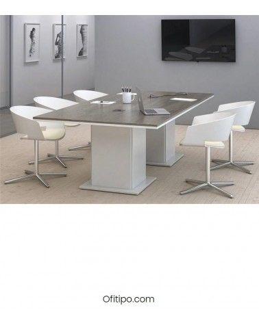 Mesa de reunión rectangular Eslem