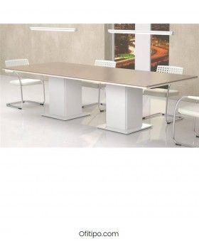 Mesa de reunión Eslem rectangular ofitipo 4