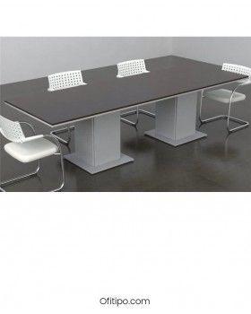 Mesa de reunión Eslem rectangular ofitipo 6