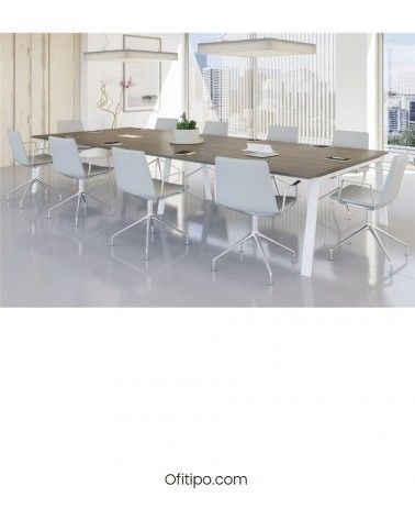 Mesa de reunión rectangular Komat