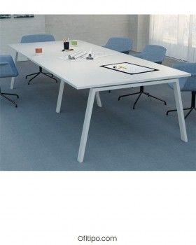 Mesa de reunión Komat rectangular ofitipo 2