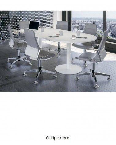Mesa de reunión ovalada Poms