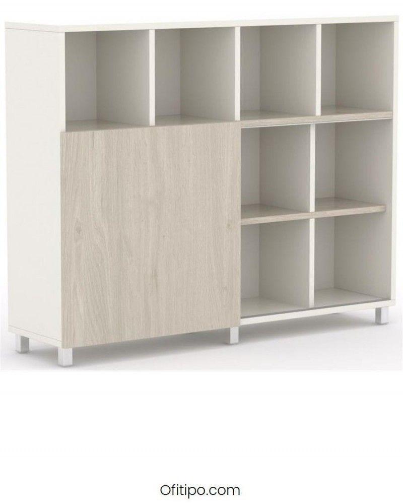 Librería estantería oficina Malib 12 celdas alta ofitipo 1