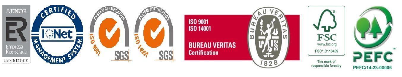 Certificados de calidad y medio ambiente ISO