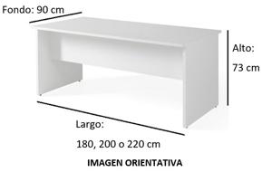 Imagen medidas - Mesa de despacho Gatenon lateral ancho ofitipo